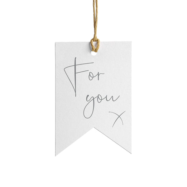 For You Wrapping Paper Tag