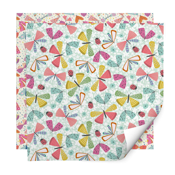 Butterfly Gardens Wrapping Paper Pack