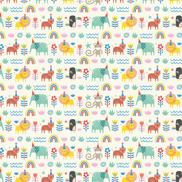 Animal Party Wrapping Paper Pack