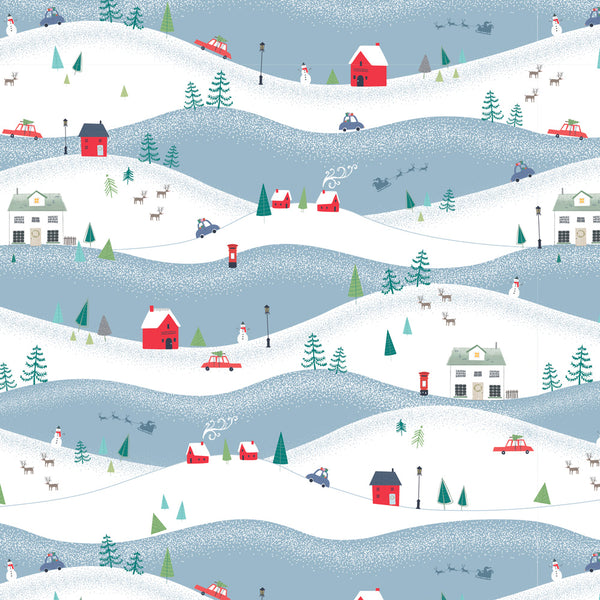 Snowy Hills Christmas Wrapping Paper
