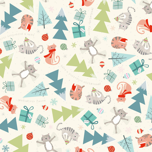 Meowy Christmas Wrapping Paper