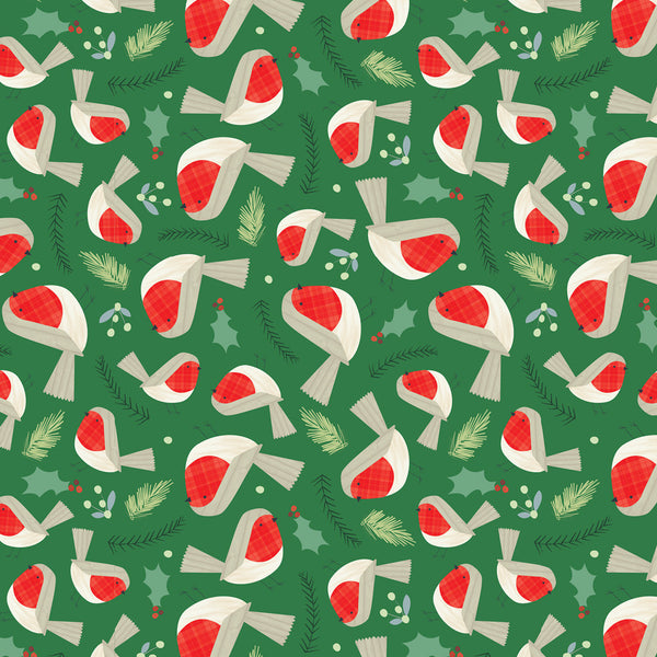 Robin Red Breast Christmas Wrapping Paper