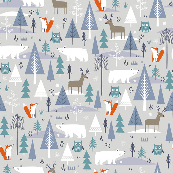 Fox and the Polar Bear Christmas Wrapping Paper