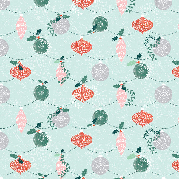 Festive Baubles Christmas Wrapping Paper