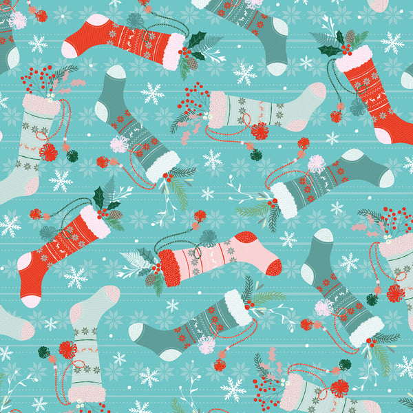 Stockings Christmas Wrapping Paper