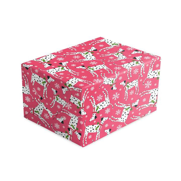 Dalmation Red Christmas Wrapping Paper