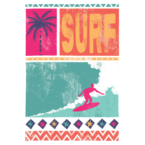Surf Bright Art Print
