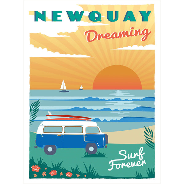 Newquay Dreaming Art Print