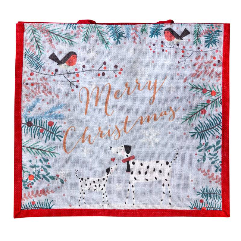 Dalmatians Christmas Jute Bag