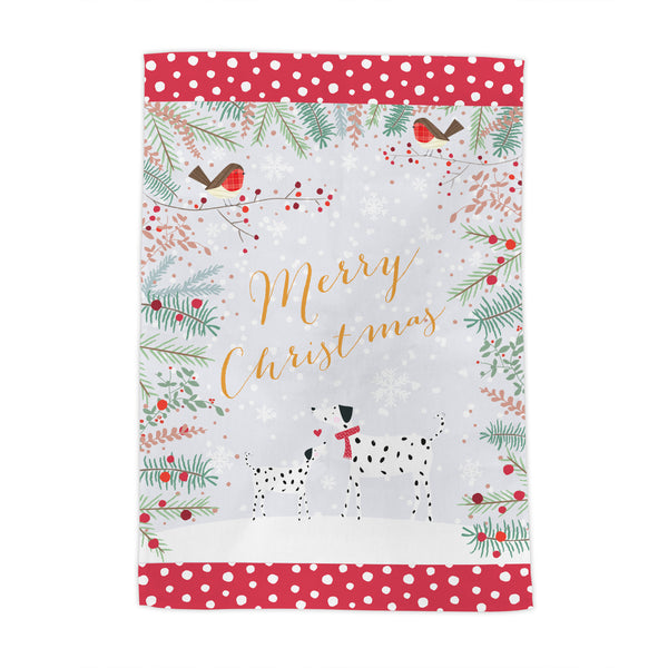 Dalmatians Christmas Tea Towel