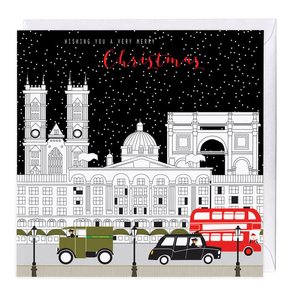City At Night Christmas Card