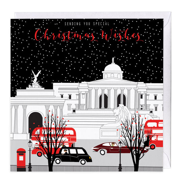City At Night Special Christmas Wishes Card
