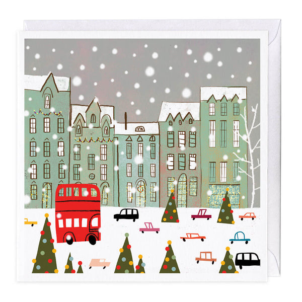 Winter Town Christmas Card