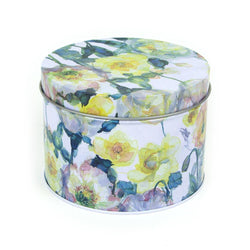 Yellow Roses Floral Art Tin