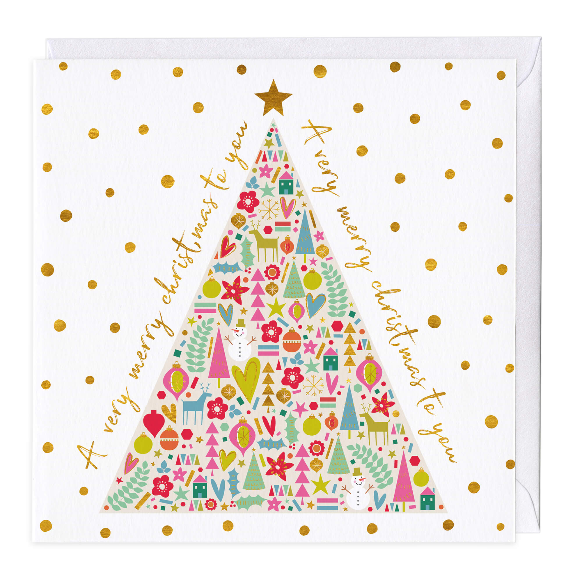Very Merry Christmas.A Very Merry Christmas Tree Card