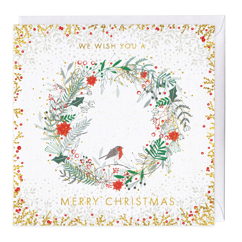 Festive Wreath Christmas Card