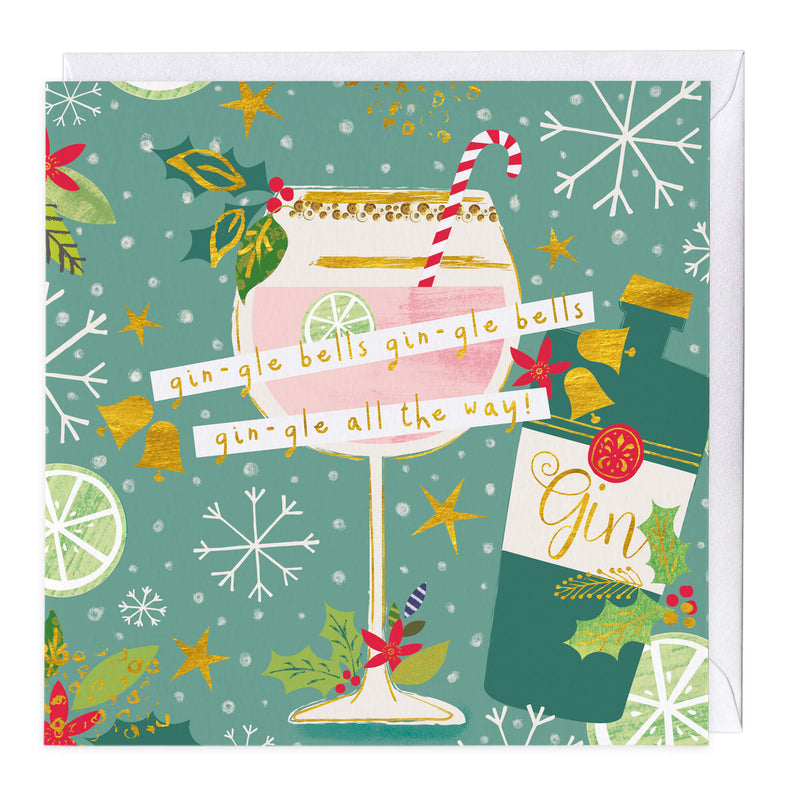 Gin-gle All The Way Christmas Card