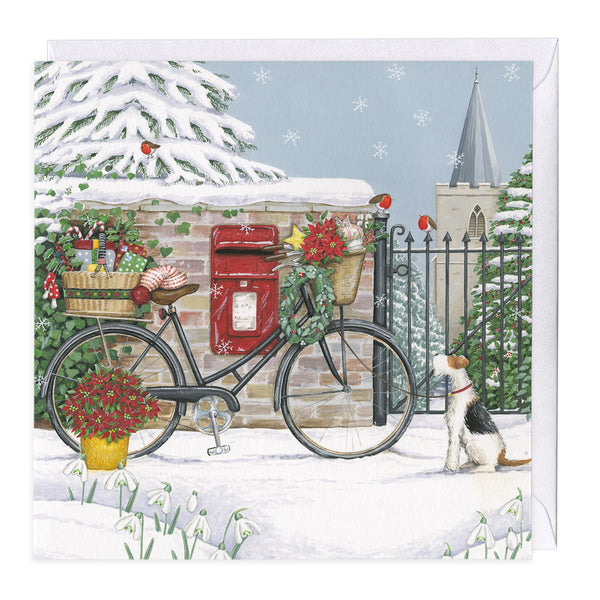 Bicycle Delivery Christmas Card