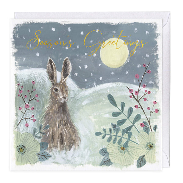 Midnight Hare Christmas Card