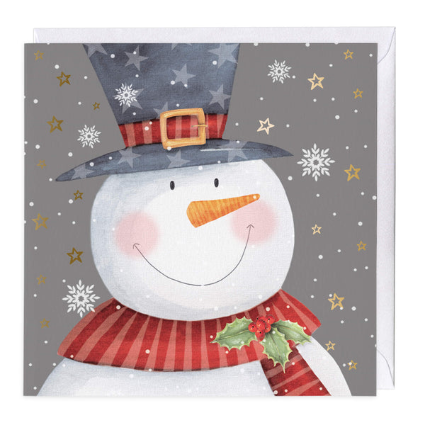 Smiley Snowman Christmas Card