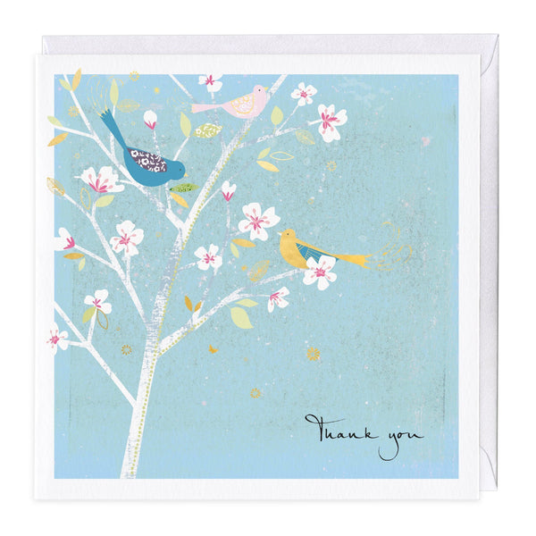 Blossom Birds Thank You Card