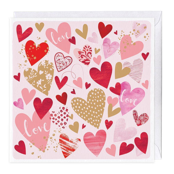 Love Hearts Valentine's Day Card