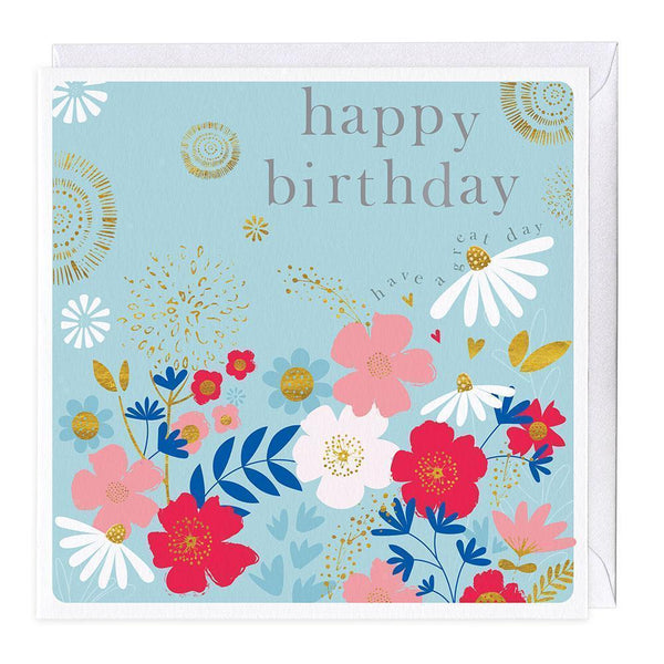 Have A Great Birthday Floral Card