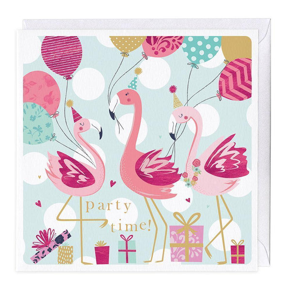 Flamingo Party Time Card