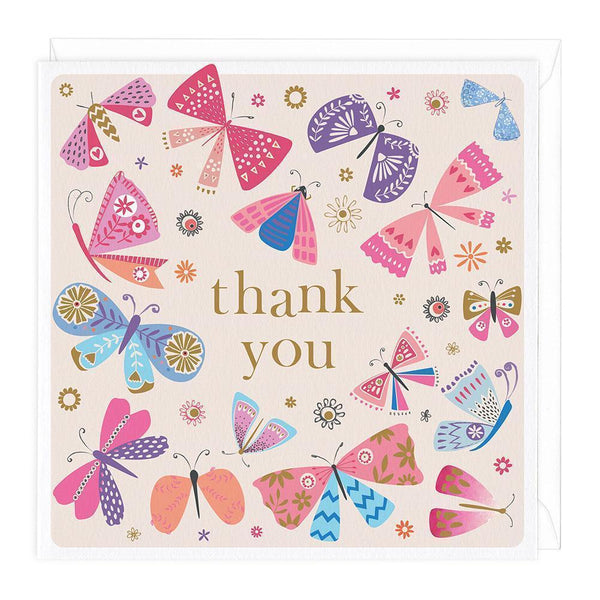 Colourful Butterflies Thank You Card