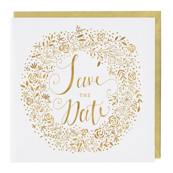 Gold Save The Date Card