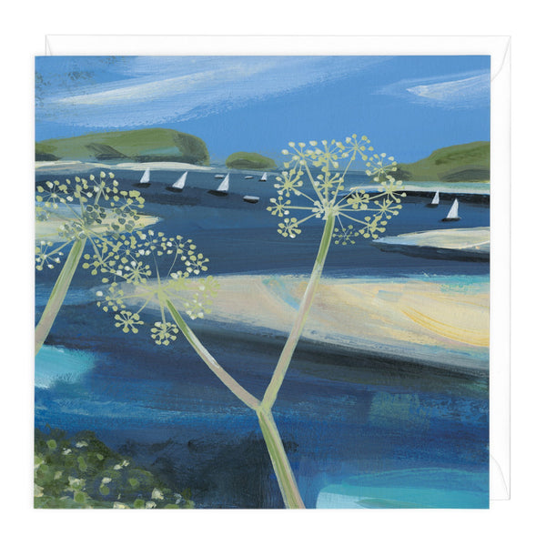 Summer Walk on Camel Estuary Art Card