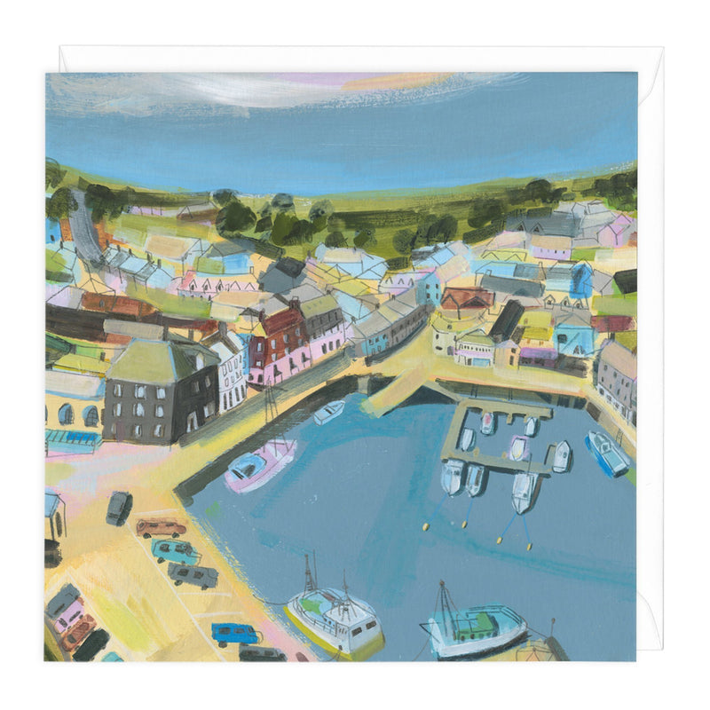 Padstow From Above Art Card