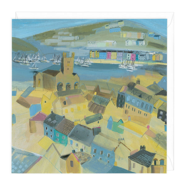 Painted Houses in Dartmouth Art Card