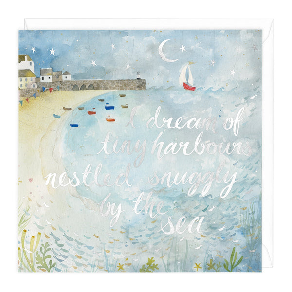 Dream Of Tiny Harbours Art Card