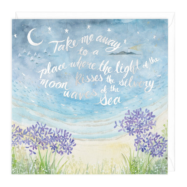 Silvery Waves Of The Sea Art Card
