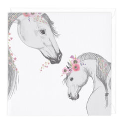 Mare And Foal Card