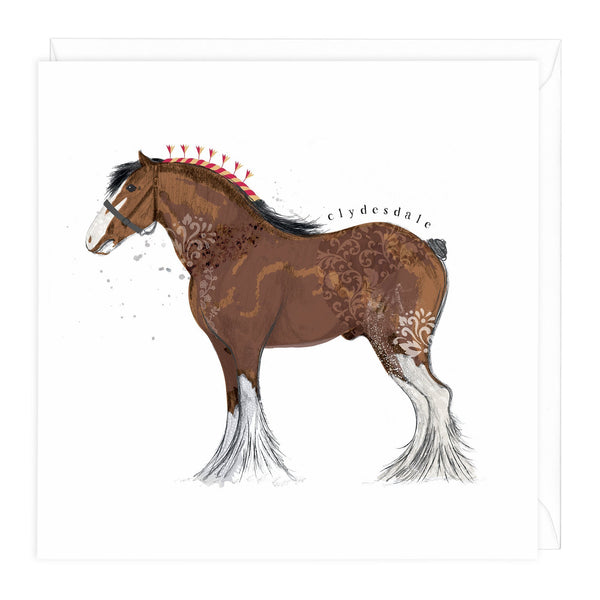 Heavy Horse Collection Clydesdale Card