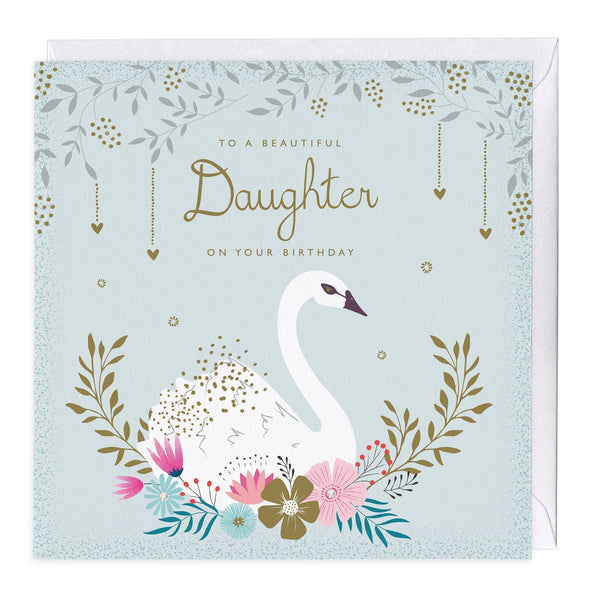 To A Beautiful Daughter Birthday Card