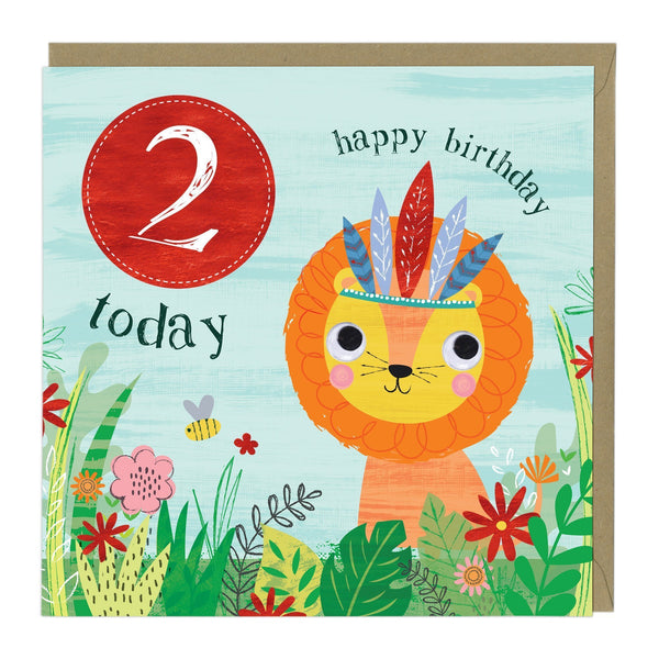 2 Today Lion Children's Birthday Card