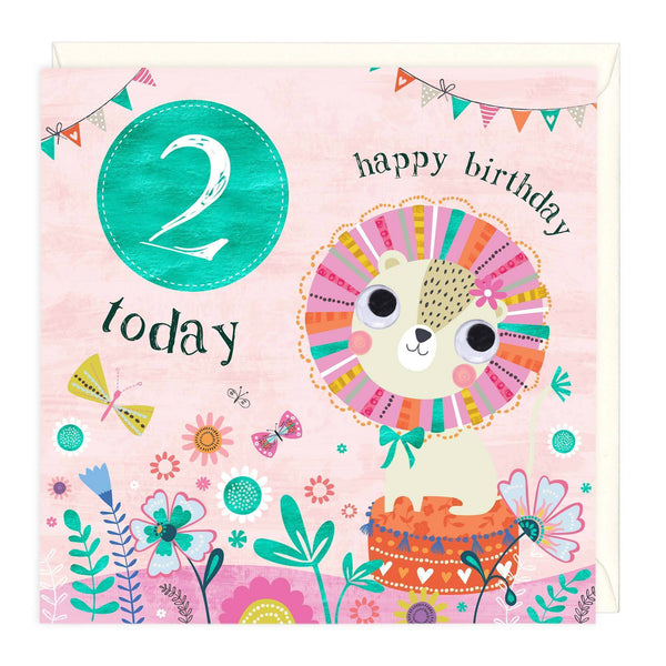 2 Today Colourful Lion Children's Birthday Card