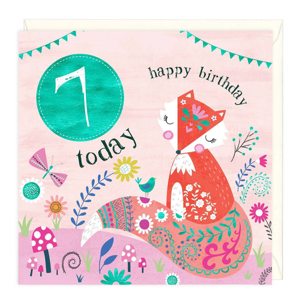 7 Today Fox Children's Birthday Card