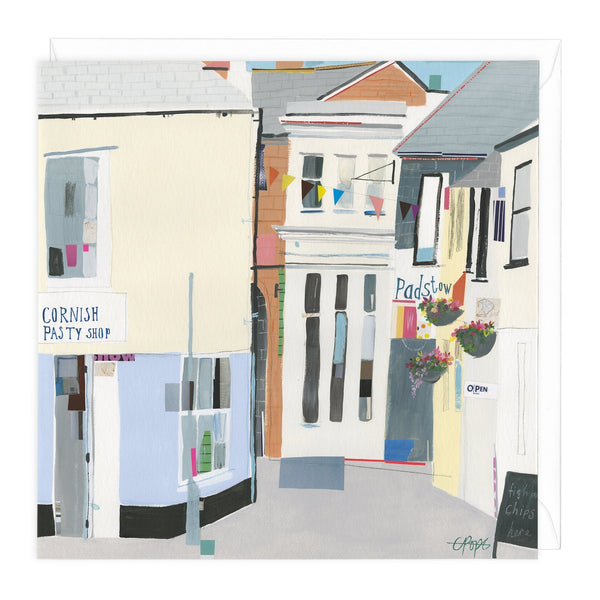 The Strand Padstow Art Card