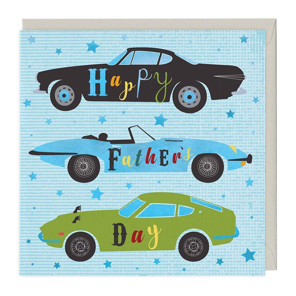 Sports Cars Father's Day Card