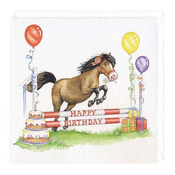 Happy Birthday Showjumping Card