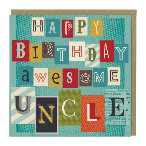 Awesome Uncle Birthday Card