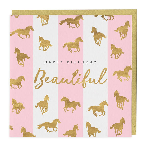 Beautiful Horse Print Birthday Card