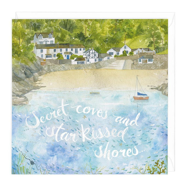 Secret Coves and Star Kissed Shores Art Card