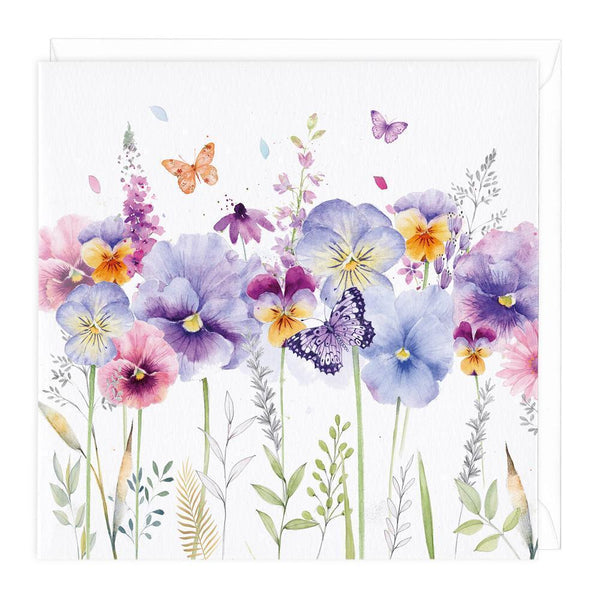 Pansies Floral Card