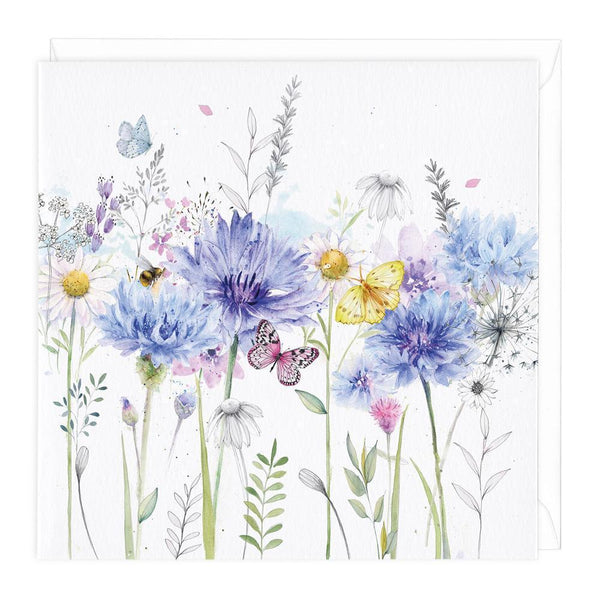 Cornflowers Floral Card