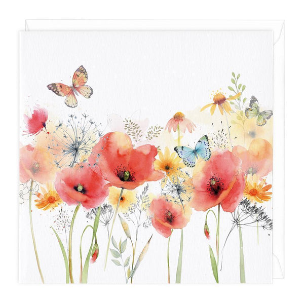 Poppies Floral Card